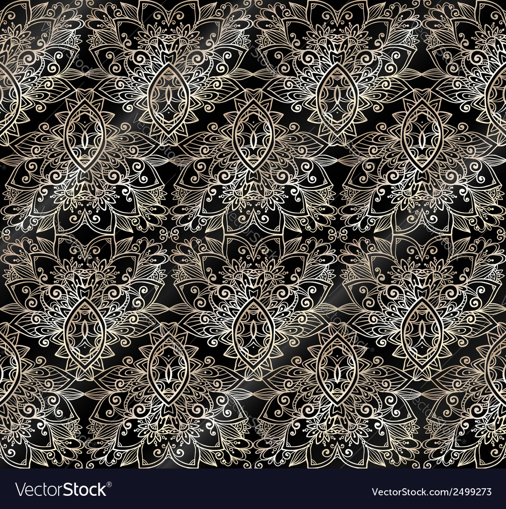 Ornate vintage seamless pattern vector | Price: 1 Credit (USD $1)