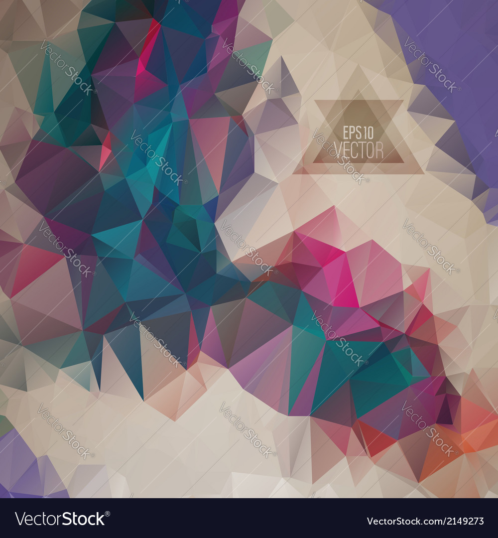 Retro pattern of geometric shapes vector | Price: 1 Credit (USD $1)