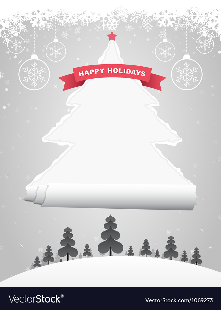 Ripped christmas tree vector   Price: 1 Credit (USD $1)