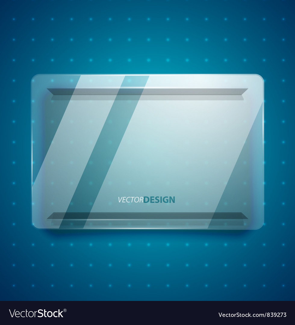 Transparent glass ad screen vector   Price: 1 Credit (USD $1)