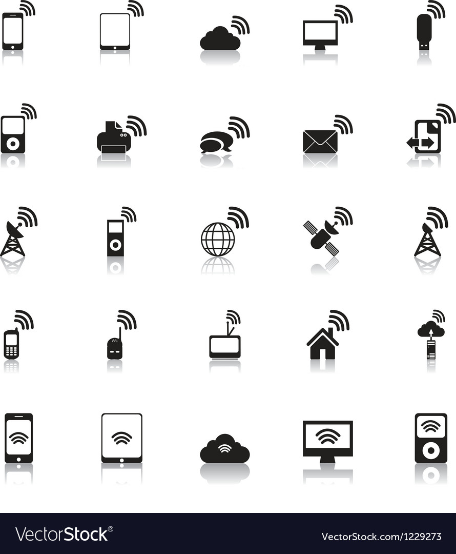 Wireless icons hotspot vector | Price: 1 Credit (USD $1)