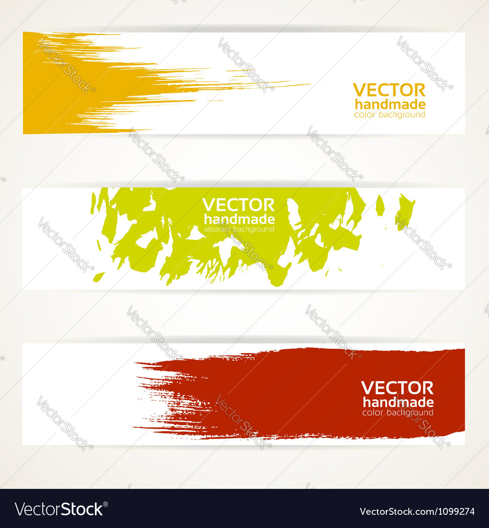 Abstract color banner set vector | Price: 1 Credit (USD $1)