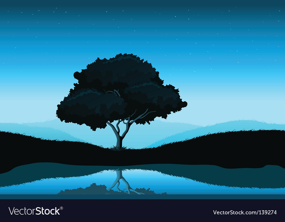 Amazing landscape vector | Price: 1 Credit (USD $1)