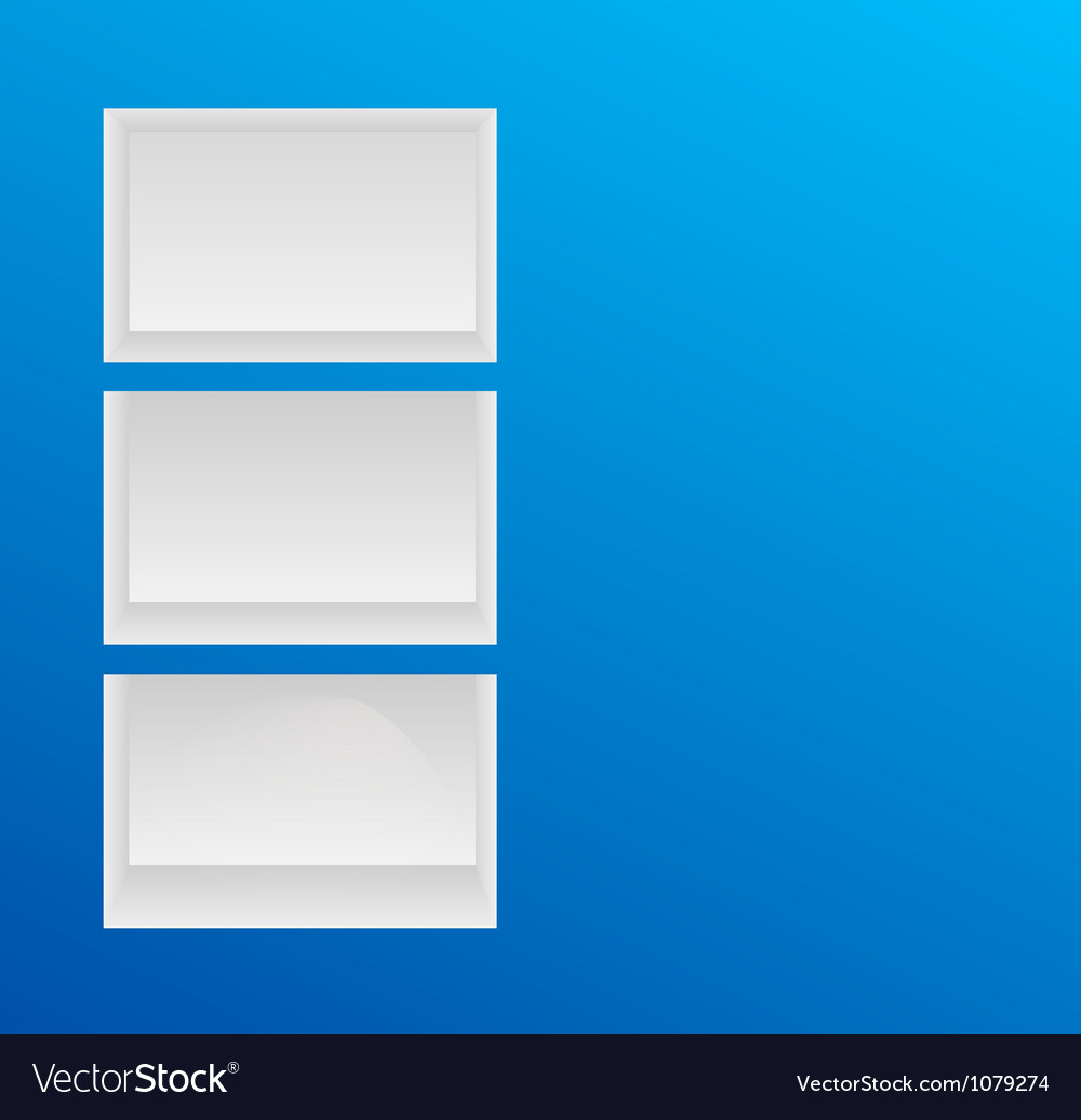 Empty blue shelves vector | Price: 1 Credit (USD $1)