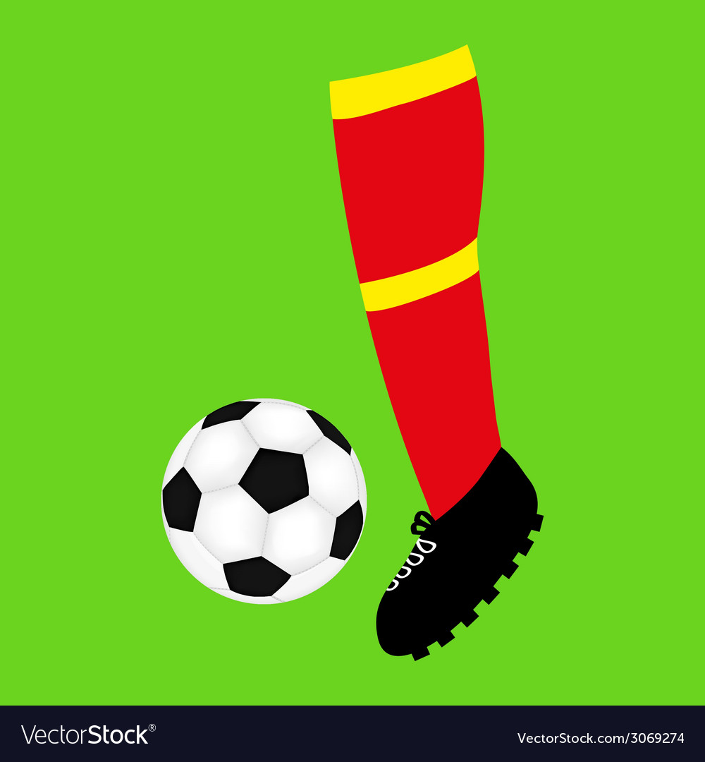 Foot football and soccer ball vector | Price: 1 Credit (USD $1)