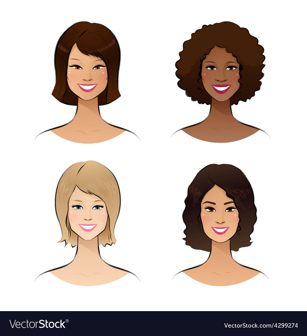 Human race women vector | Price: 1 Credit (USD $1)