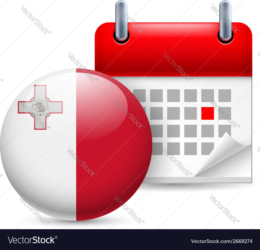 Icon of national day in malta vector | Price: 1 Credit (USD $1)
