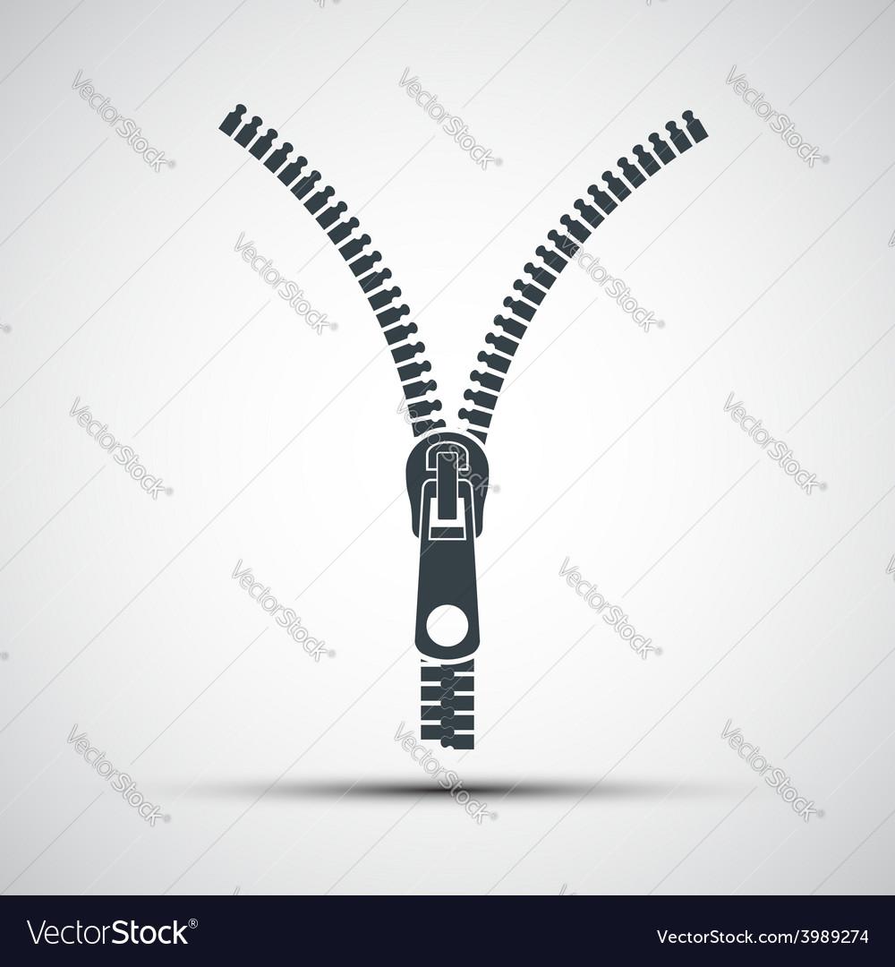 Icons zipper vector | Price: 1 Credit (USD $1)
