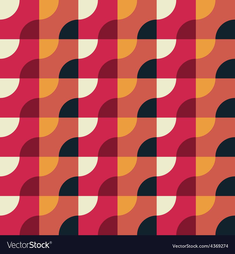 Retro geometric red pattern vector | Price: 1 Credit (USD $1)