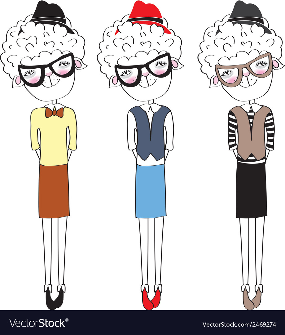 Sheep fashion-monger vector | Price: 1 Credit (USD $1)