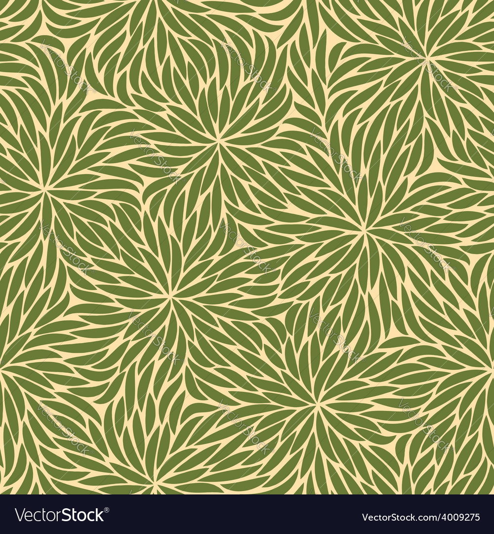 Abstract green strokes flowers seamless pattern vector | Price: 1 Credit (USD $1)