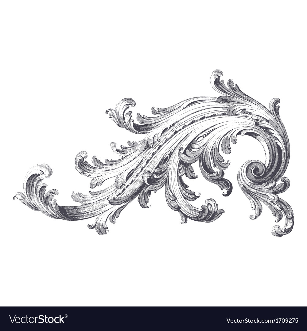 Acanthus scroll vector | Price: 1 Credit (USD $1)