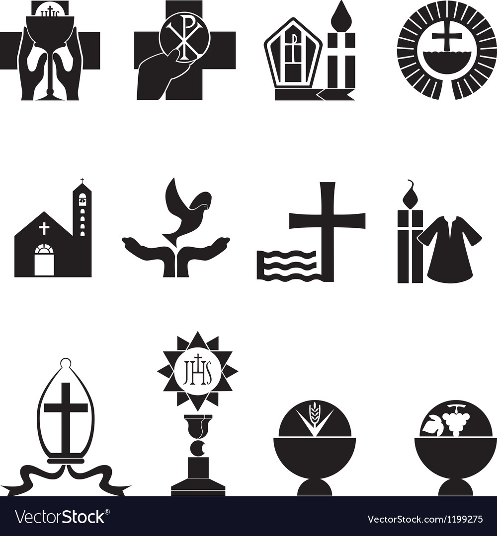Christian religious icons vector | Price: 1 Credit (USD $1)