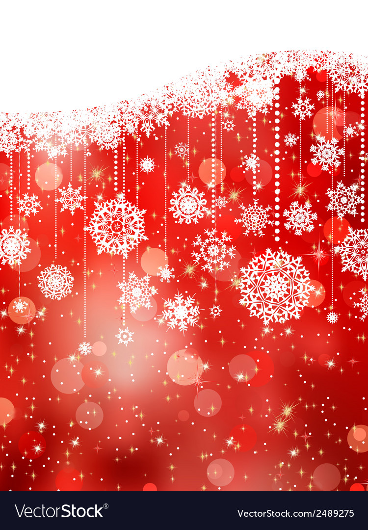 Christmas background with snowflakes on red eps 8 vector | Price: 1 Credit (USD $1)