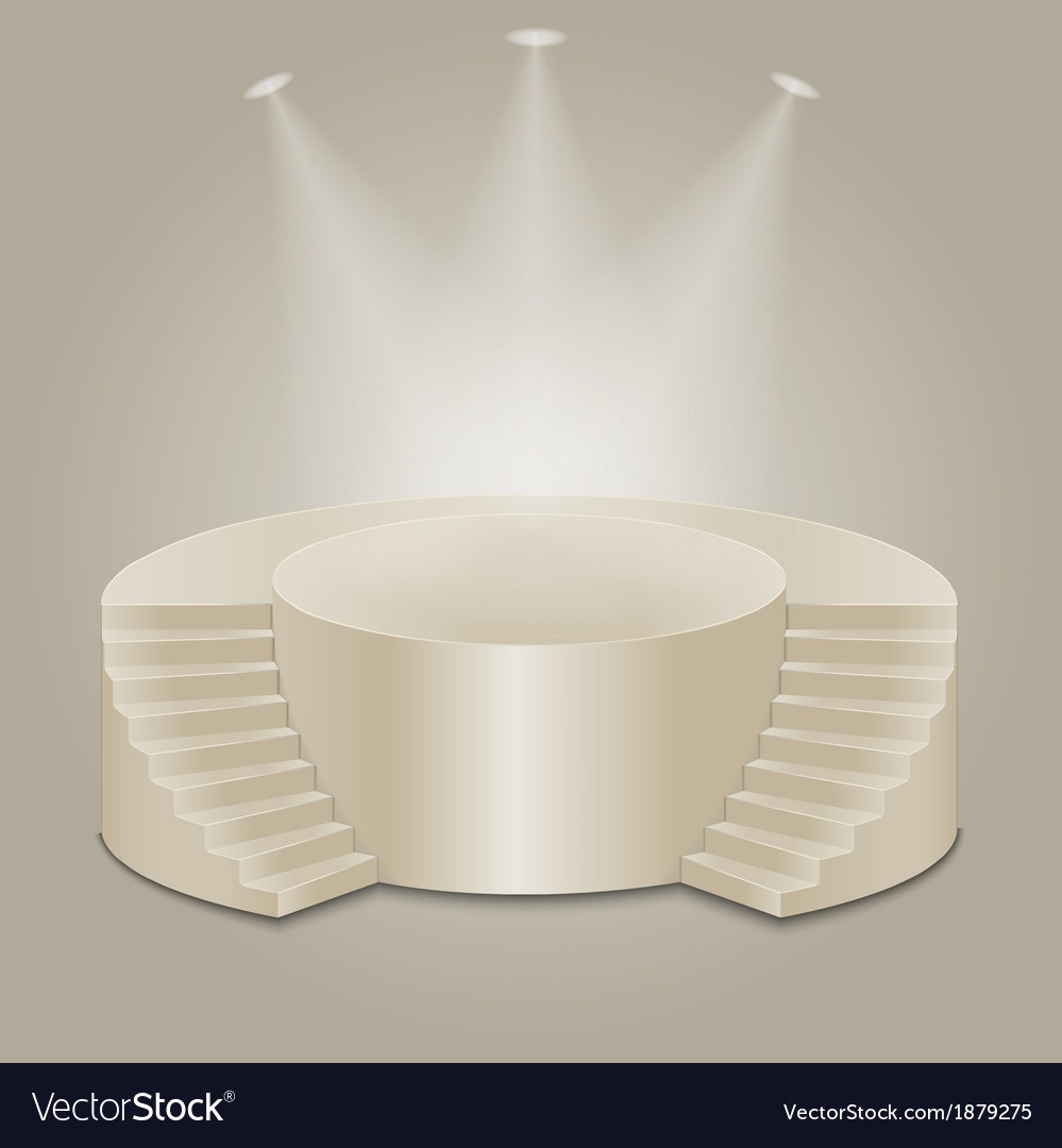 Empty illuminated podium vector | Price: 1 Credit (USD $1)