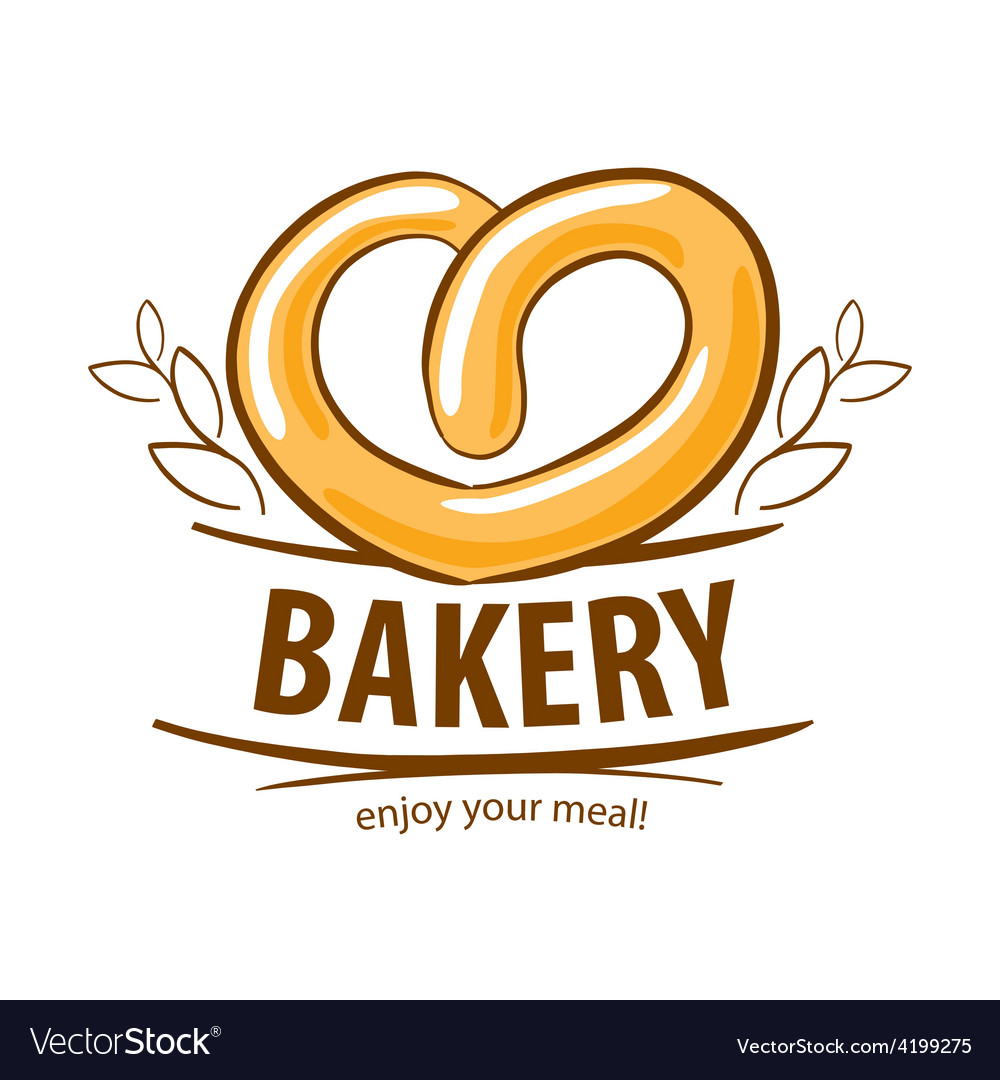 Logo fresh pretzel bakery vector | Price: 1 Credit (USD $1)