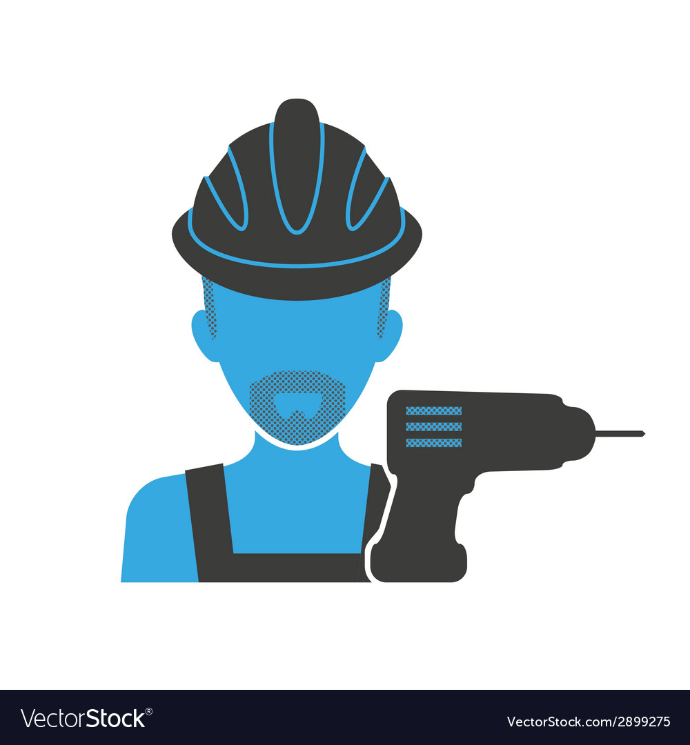 Maintenance mechanic blue icon vector | Price: 1 Credit (USD $1)