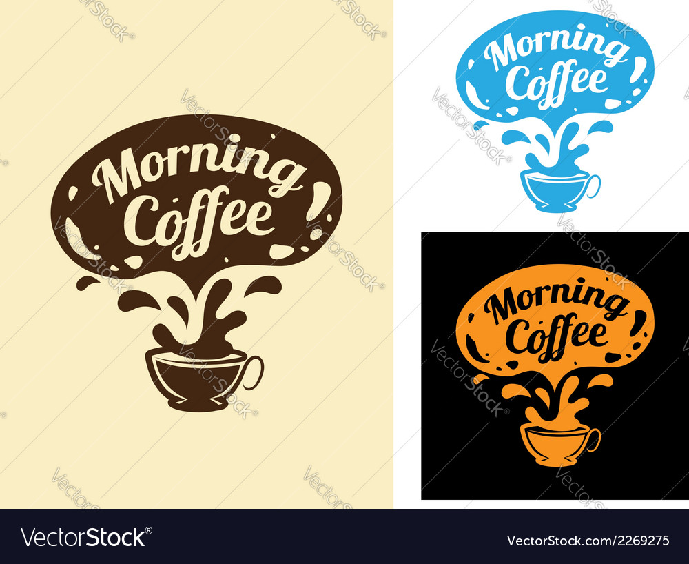 Morning coffee icon vector | Price: 1 Credit (USD $1)