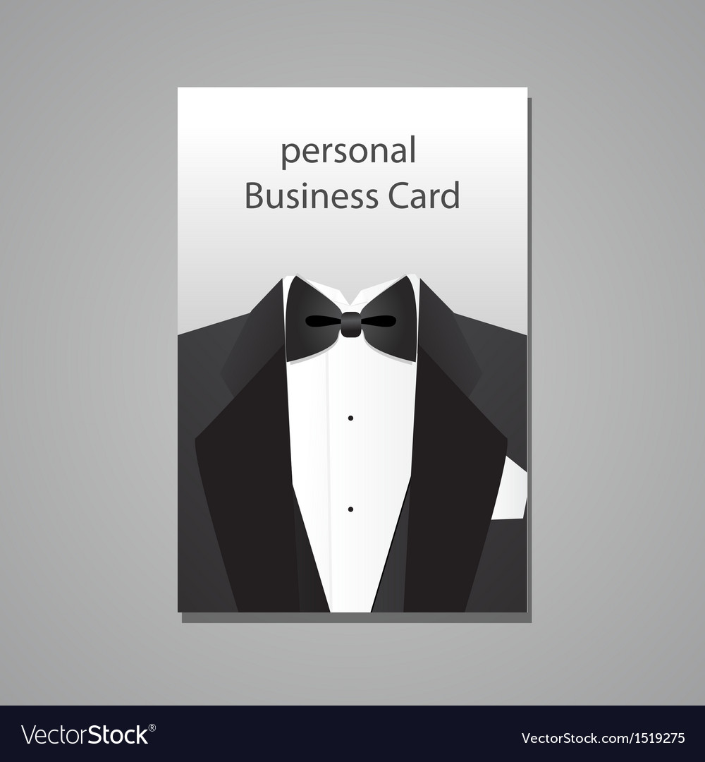Personal business card vector | Price: 1 Credit (USD $1)