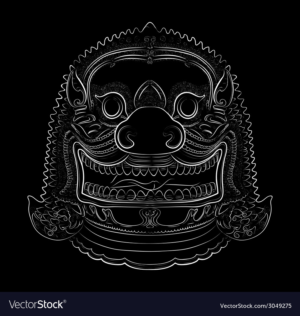 Thai demon - lion vector | Price: 1 Credit (USD $1)