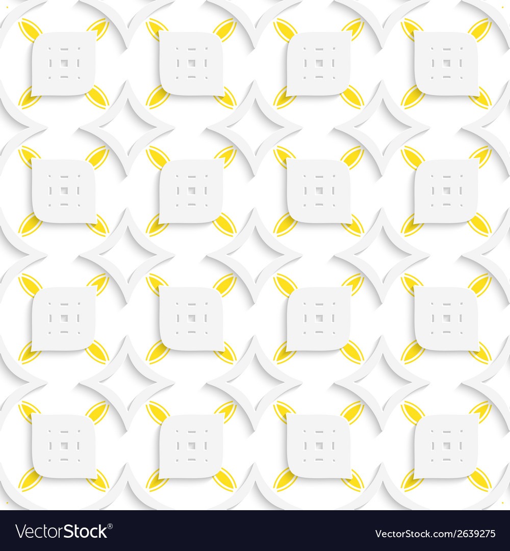 White and yellow geometrical perforated leaves and vector | Price: 1 Credit (USD $1)