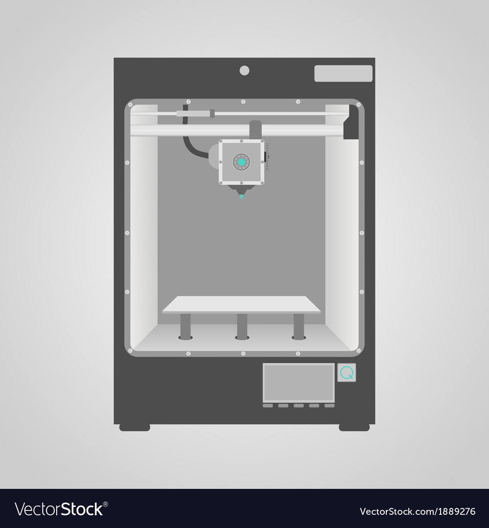 3d printing vector | Price: 1 Credit (USD $1)