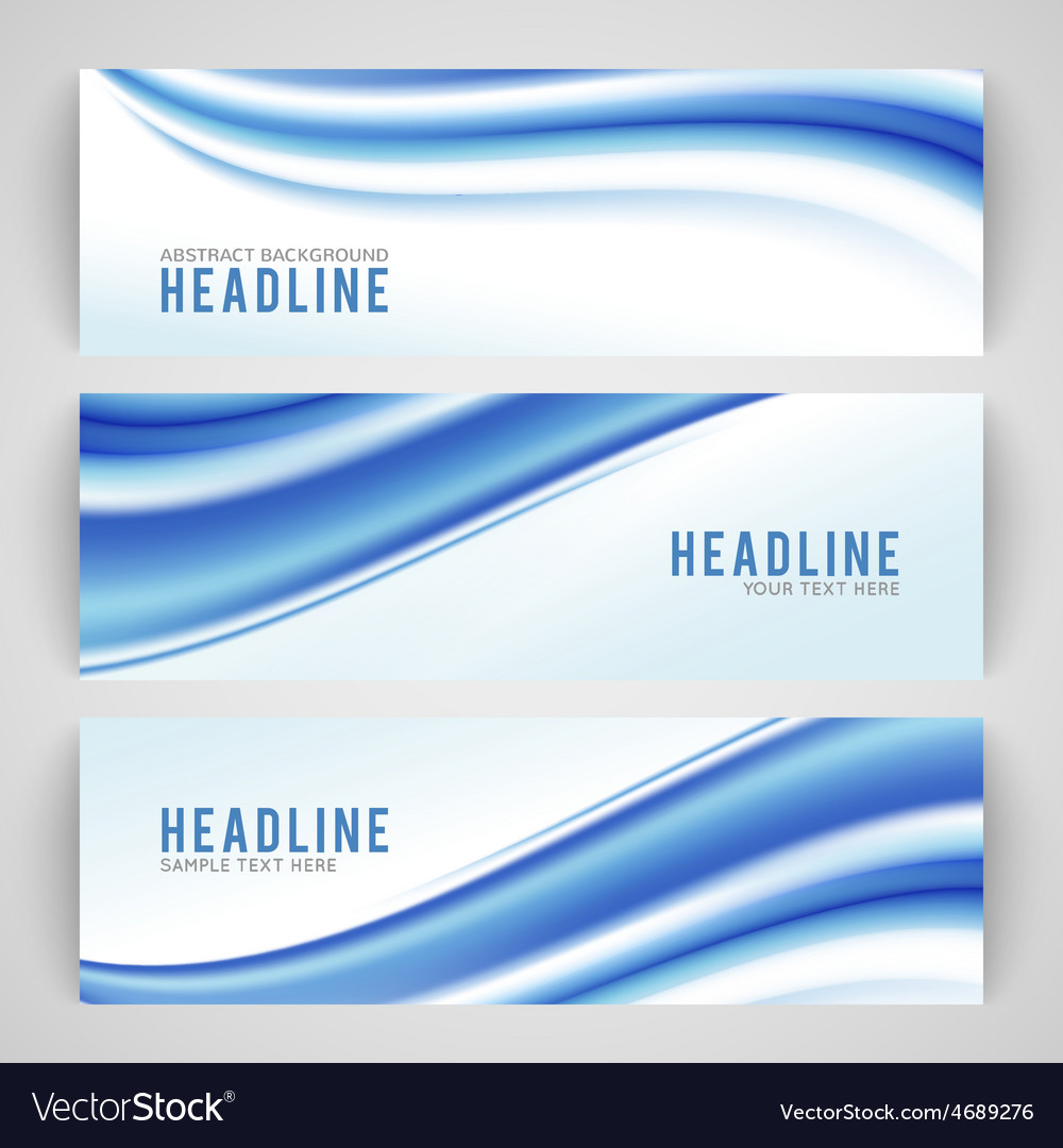 Abstract blue wave isolated on white background vector | Price: 1 Credit (USD $1)