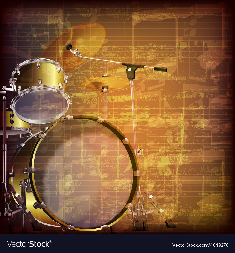 Abstract grunge brown cracked music symbols vector   Price: 3 Credit (USD $3)