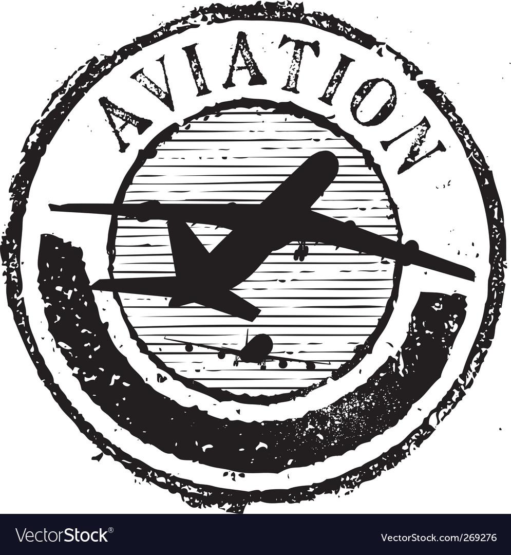 Aviation stamp vector | Price: 1 Credit (USD $1)