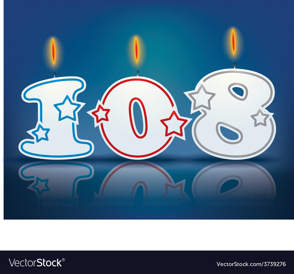 Birthday candle number 108 vector | Price: 1 Credit (USD $1)