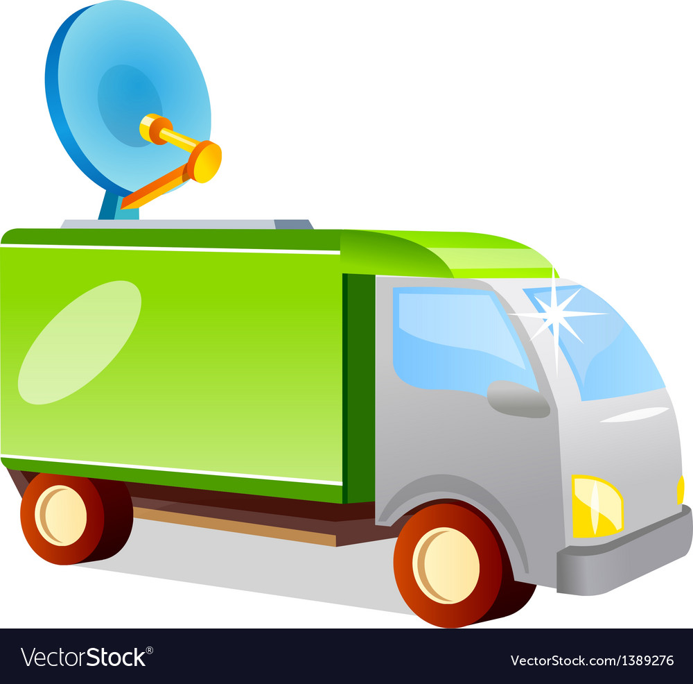 Icon antenna truck vector | Price: 1 Credit (USD $1)