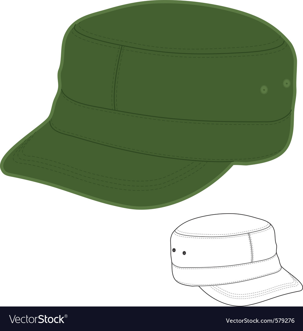 Military style cap vector | Price: 1 Credit (USD $1)