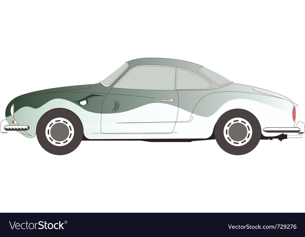 Vw karmann-ghia-1966 vector | Price: 1 Credit (USD $1)