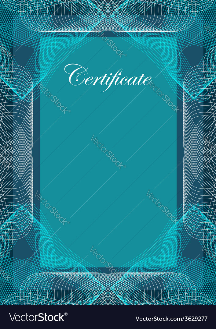 Certificate template design vector | Price: 1 Credit (USD $1)