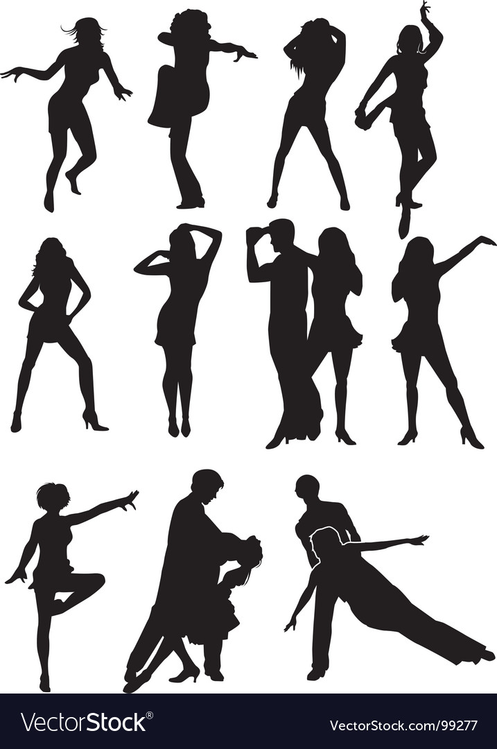 Dancing silhouettes vector   Price: 1 Credit (USD $1)