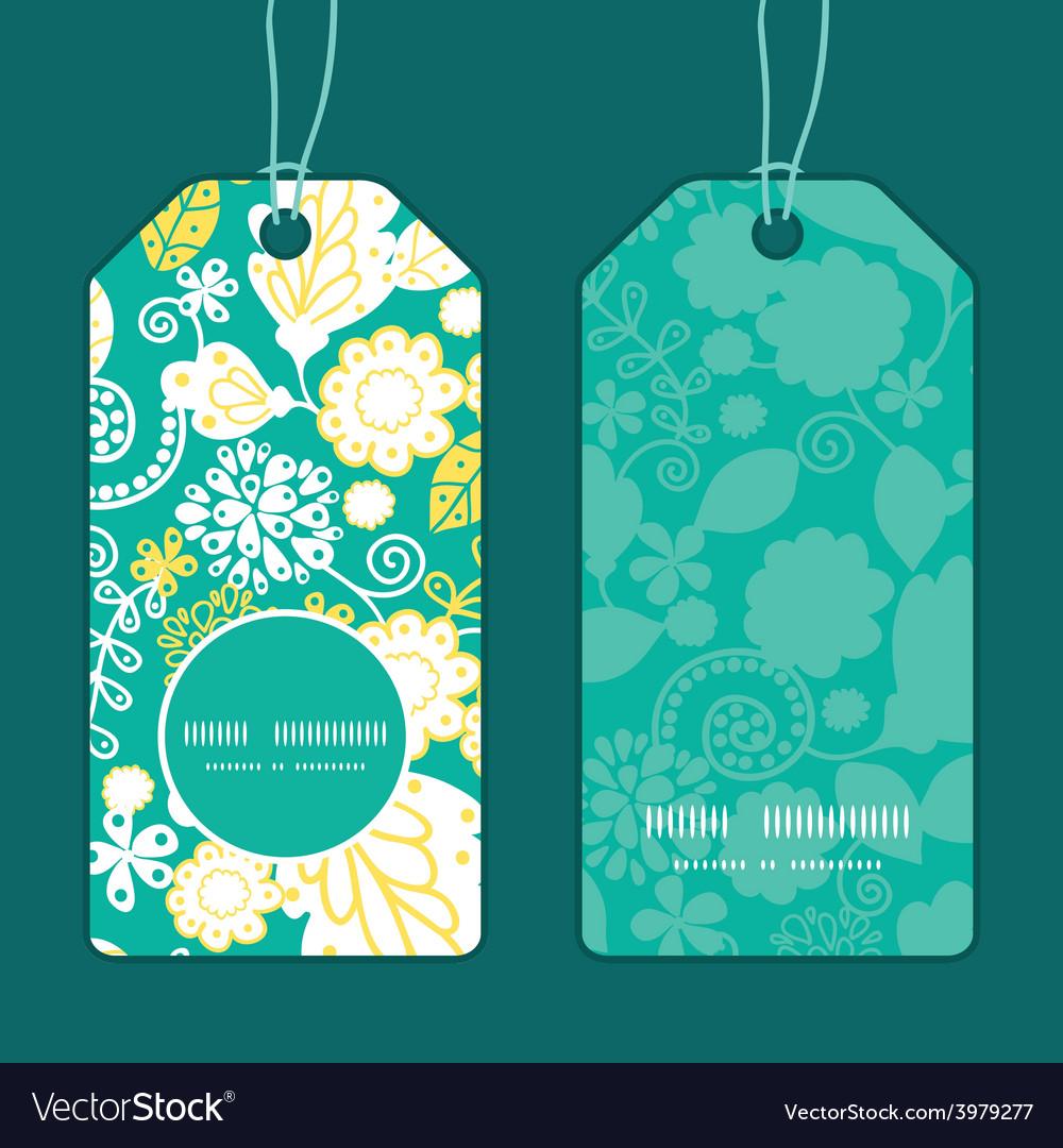 Emerald flowerals vertical round frame vector   Price: 1 Credit (USD $1)
