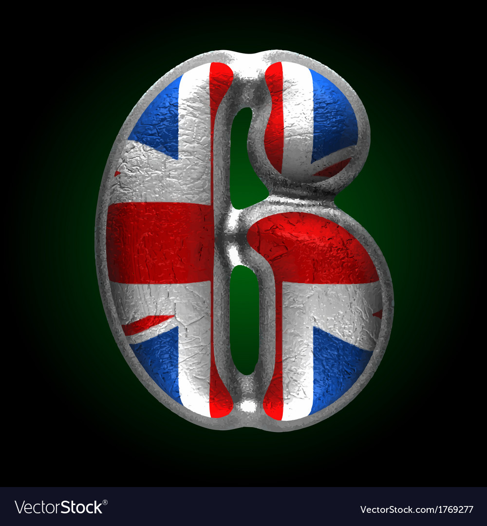 Great britain metal figure 6 vector | Price: 1 Credit (USD $1)