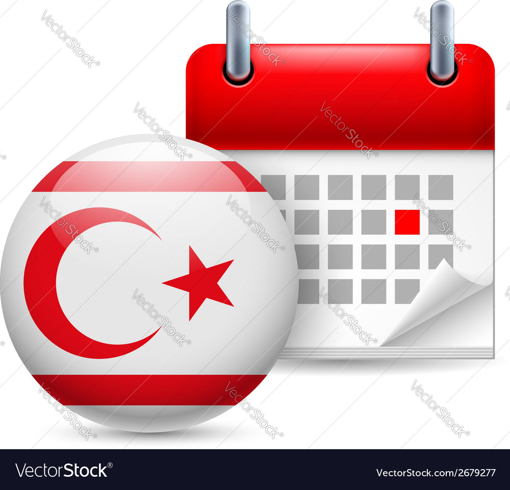Icon of national day in northern cyprus vector | Price: 1 Credit (USD $1)