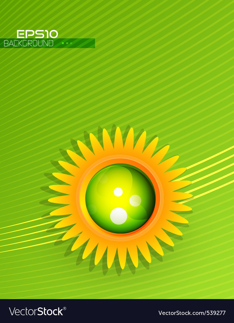 Modern sunflower vector | Price: 1 Credit (USD $1)
