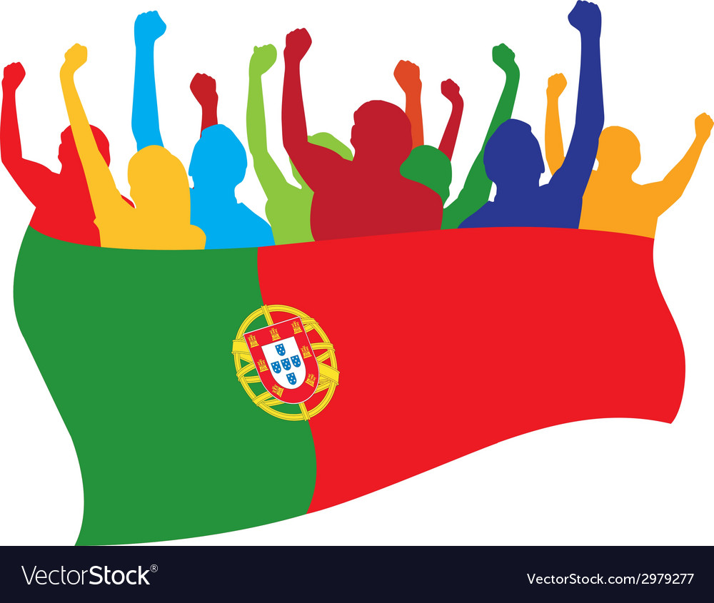 Portugal fans vector | Price: 1 Credit (USD $1)