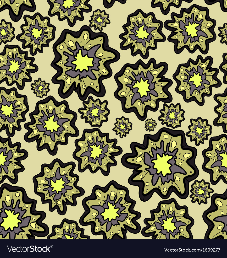 Seamless pattern of blob flowers vector | Price: 1 Credit (USD $1)