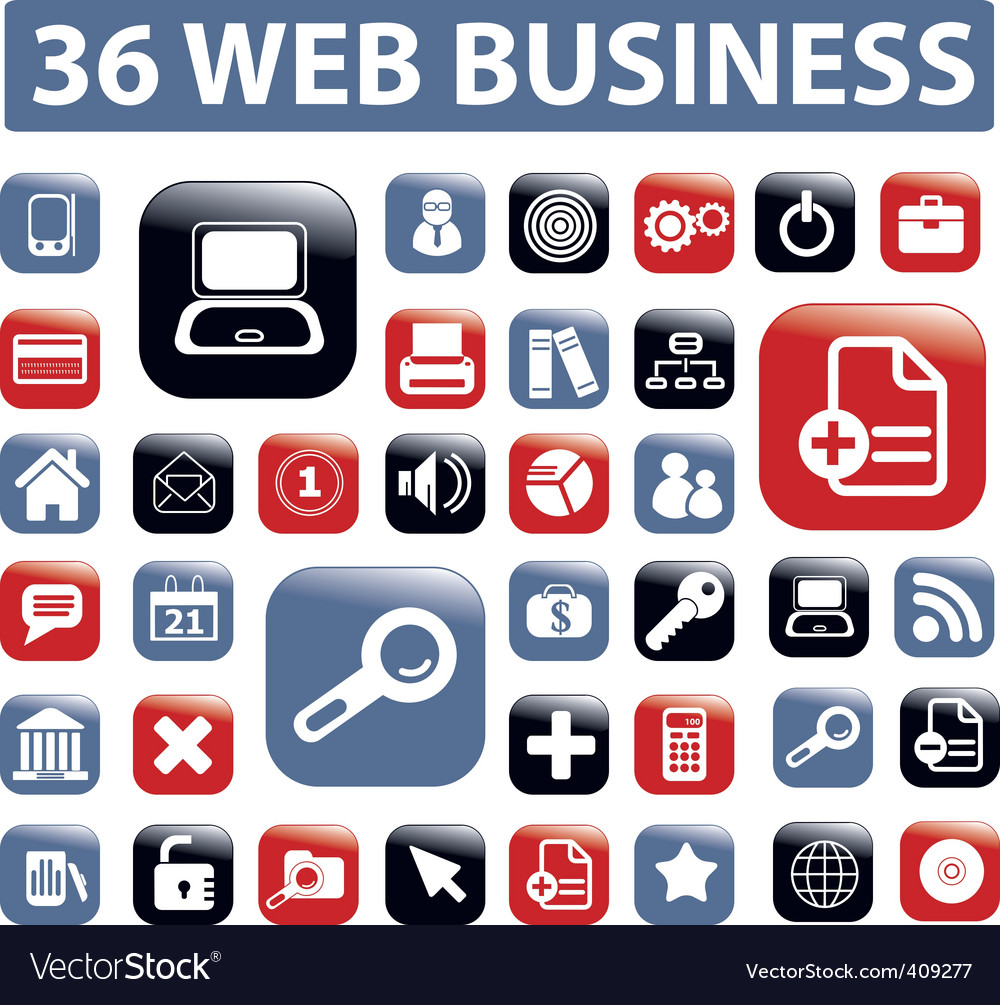 Web business buttons vector | Price: 1 Credit (USD $1)