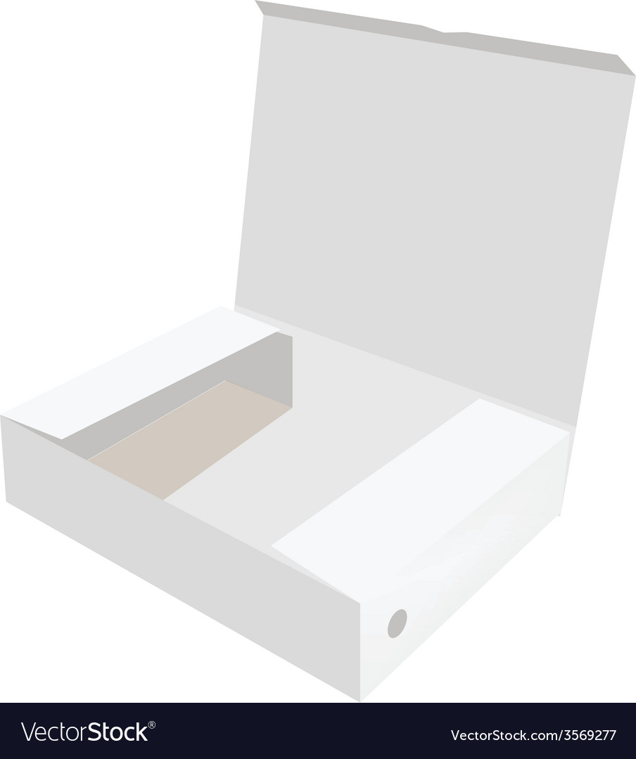 White opened box vector | Price: 1 Credit (USD $1)