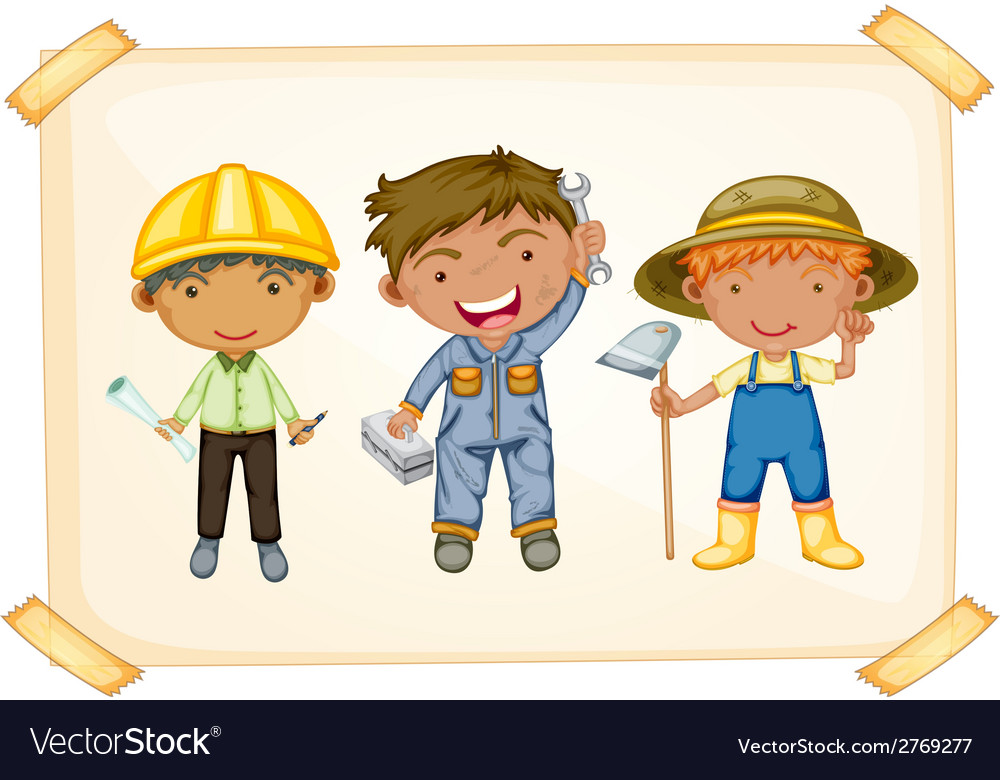 Workers and farmer vector | Price: 1 Credit (USD $1)