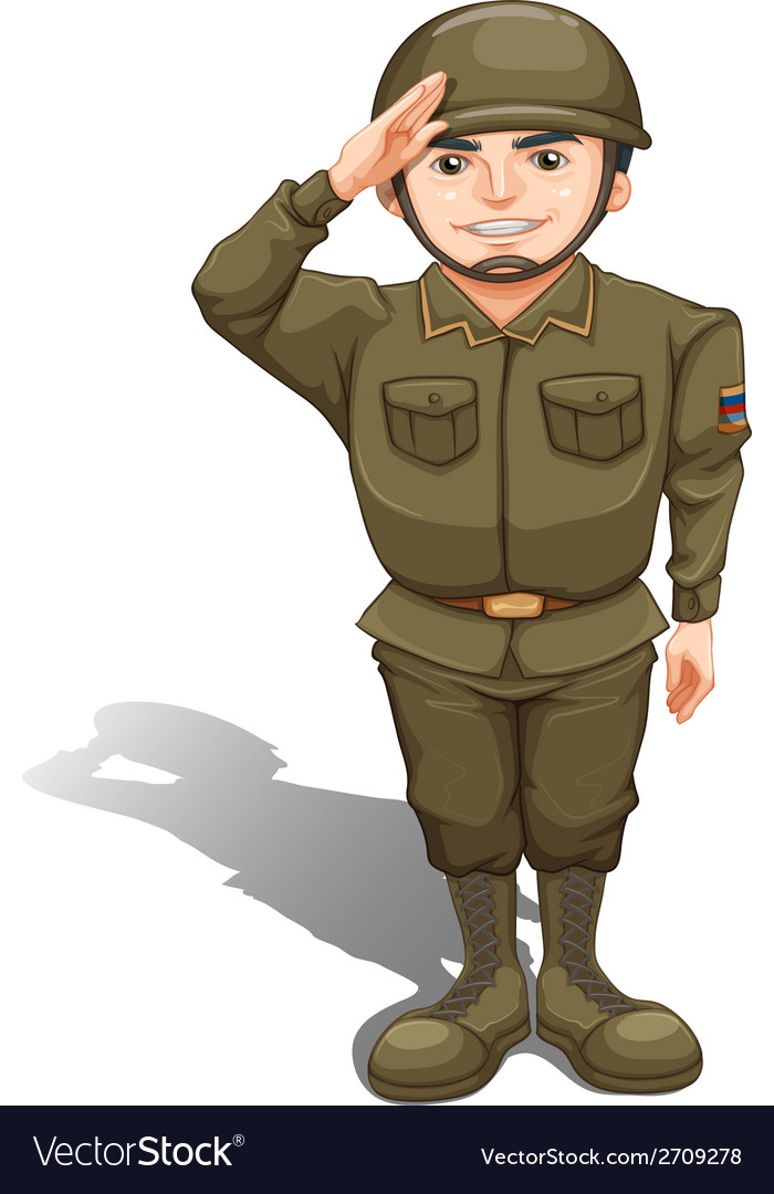 A handsome soldier vector | Price: 3 Credit (USD $3)