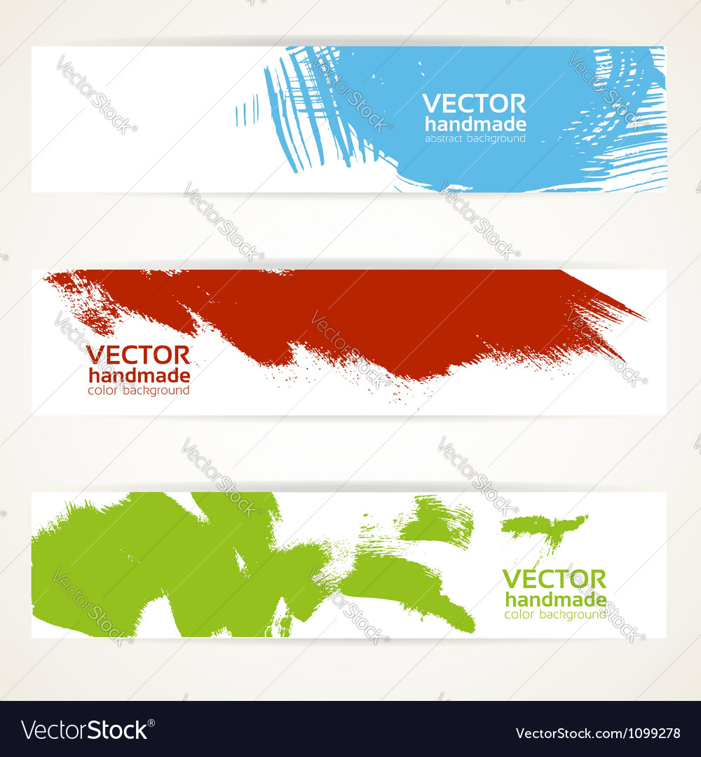 Abstract color handdrawn by brush banner vector | Price: 1 Credit (USD $1)