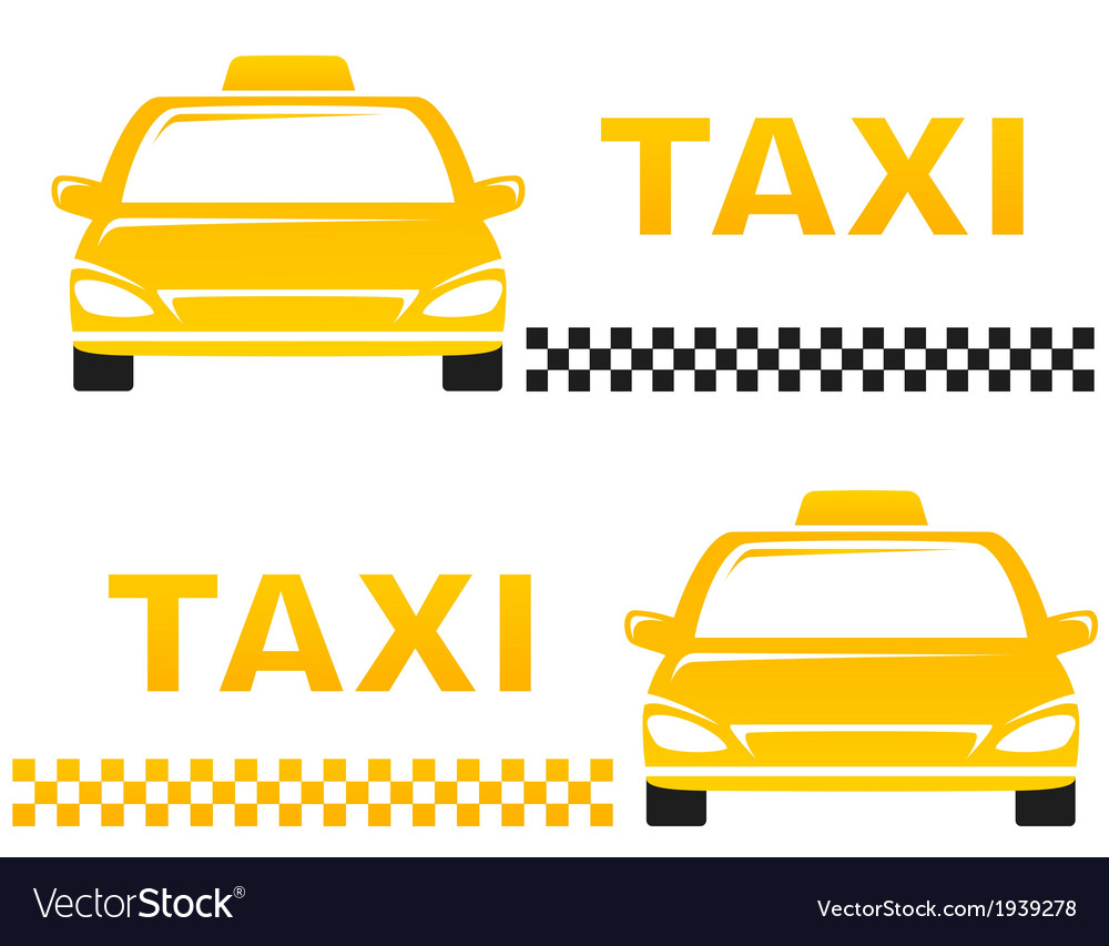 Business cards with taxi vector | Price: 1 Credit (USD $1)