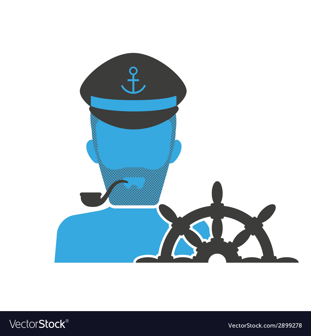 Captain blue icon vector | Price: 1 Credit (USD $1)