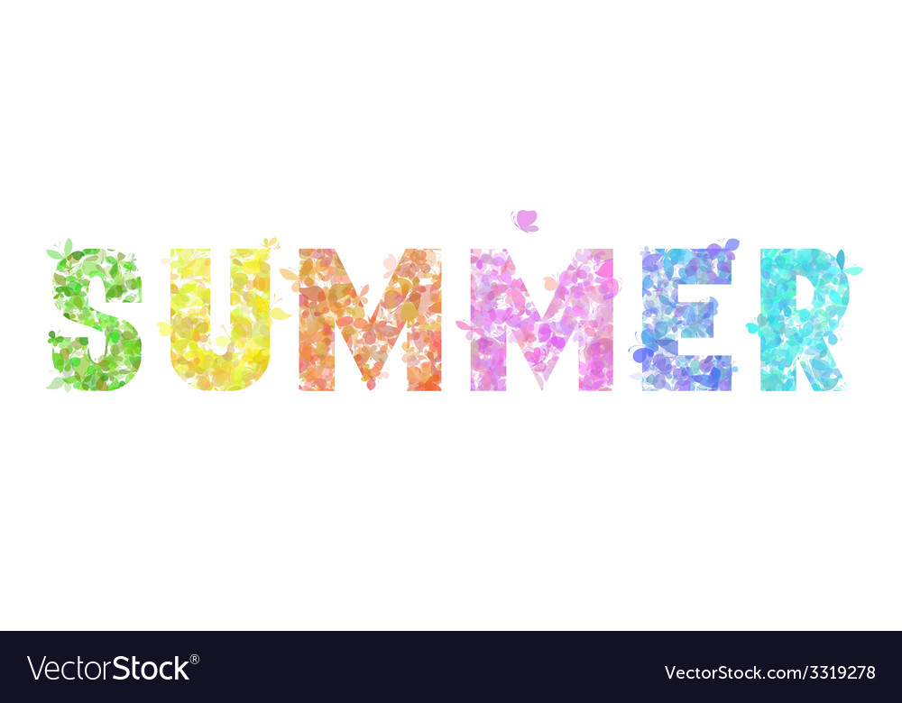 Colourful summer butterflies background vector   Price: 1 Credit (USD $1)