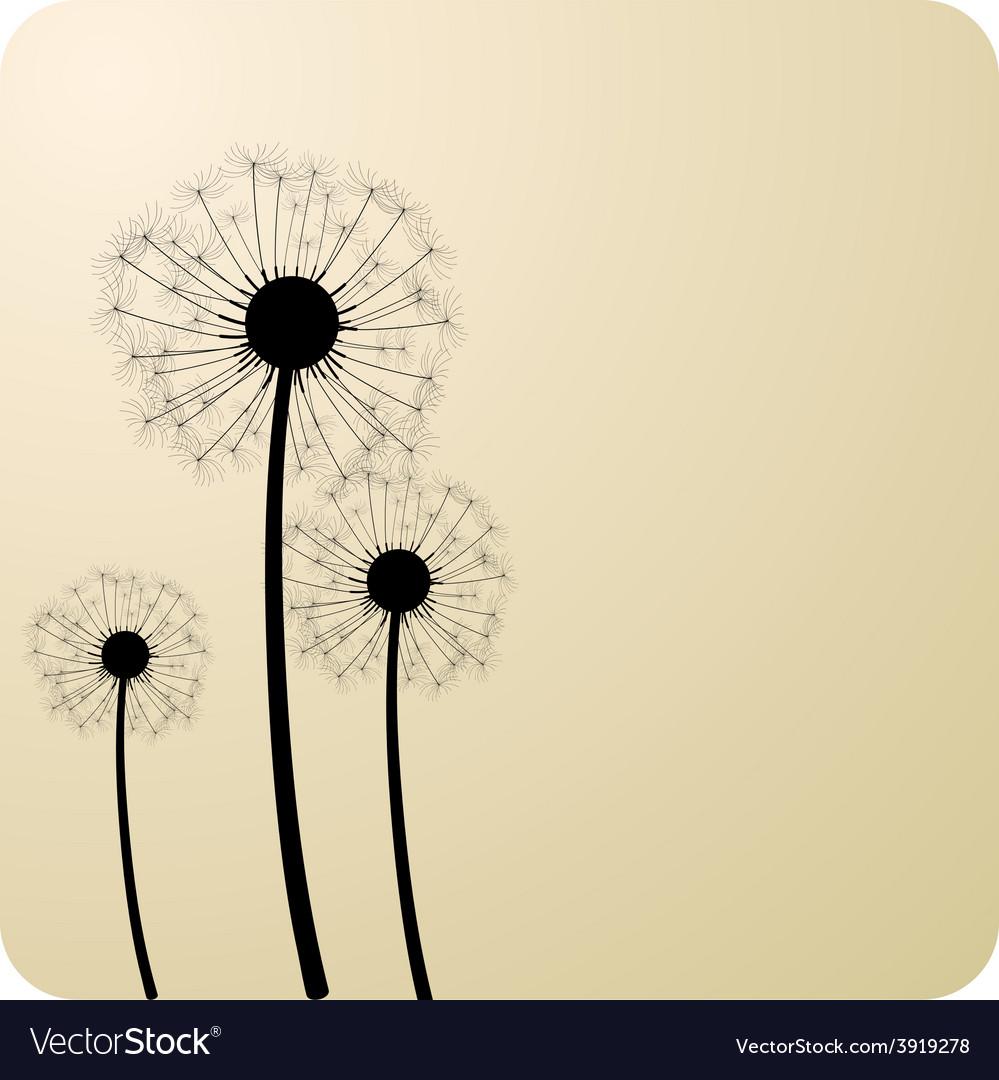 Dandelions vector | Price: 1 Credit (USD $1)